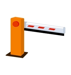 Parking barrier icon in cartoon style isolated on vector image