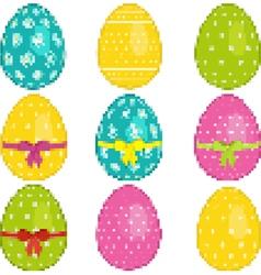 pixel easter eggs vector image