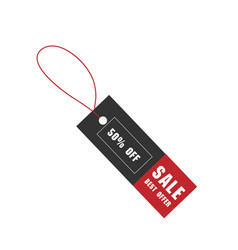 price tag sale best offer 50 off image vector image