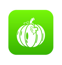 pumpkin icon green vector image