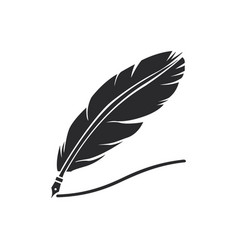 quill icon in modern style for web site and vector image