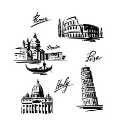 set of Italy vector image