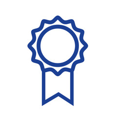 Silhouette school medal symbol to intelligent vector