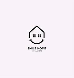 Smile home logo template vector