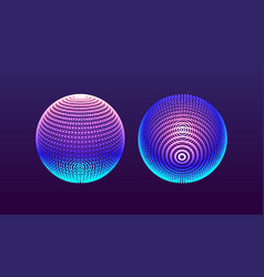 sphere consisting of points global 3d grid design vector image