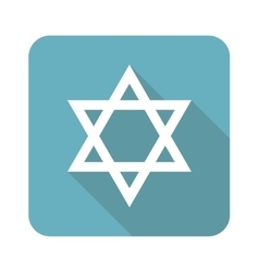 Square Star of David icon vector
