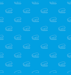 stapler pattern seamless blue vector image