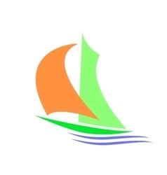 Symbolic image of a sailboa vector image
