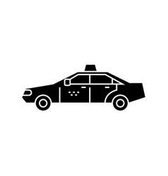 Taxi black icon concept taxi sign symbo vector