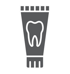 Toothpaste tube glyph icon stomatology and dental vector