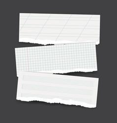 Torn school paper banners vector