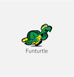 Turtle on grey background vector