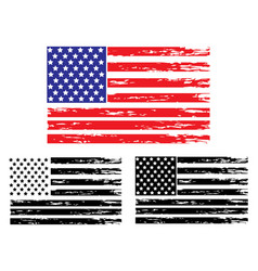 Usa grunge flag painted american symbol of vector