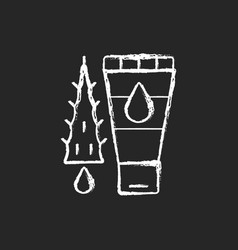 Using moisturizing lotion chalk white icon vector