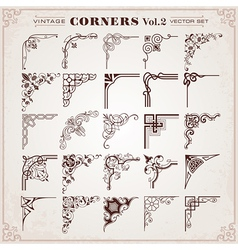 Vintage Corners And Borders vector image