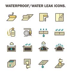 Waterproof icon vector