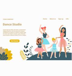 woman dance studio landing web page concept vector image