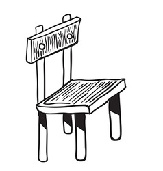 Wooden chair doodle vector