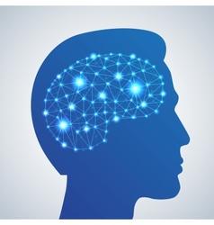 Brain network icon vector image vector image