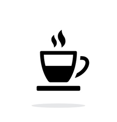 Half tea cup simple icon on white background vector image vector image