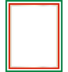 italian flag border vector image vector image
