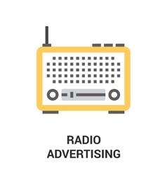 radio advertising icon vector image