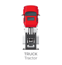 truck tractor on red car service transport item vector image vector image