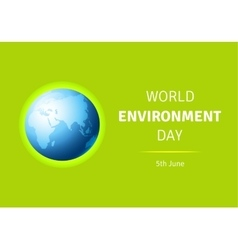 World Environment Day card poster with vector image