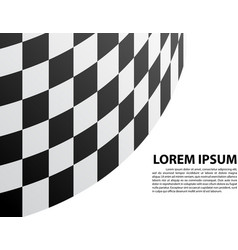 checkered curve white blank space text race sport vector image vector image