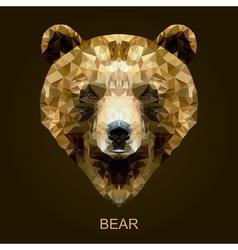 Modern brown bear in polygonal style vector image
