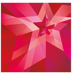 Red Star with the verge on the abstract background vector image