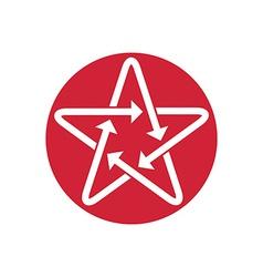 Star icon with arrows vector image
