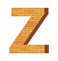 brick letter Z vector image vector image