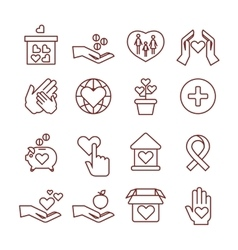 Charity giving sponsorship donation vector image