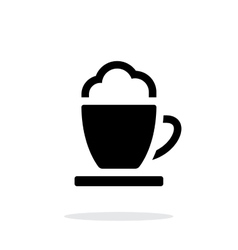 Espresso cup simple icon on white background vector image vector image