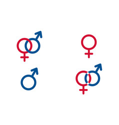 set traditional female and male symbols venus vector image vector image