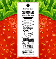 Summer poster Optical strawberry background vector image