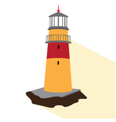 isolated lighthouse icon vector image vector image