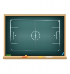 soccer field on the blackboard vector image vector image