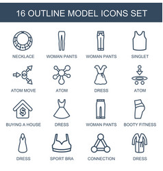 16 model icons vector
