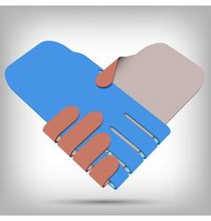 3d Paper Handshake vector