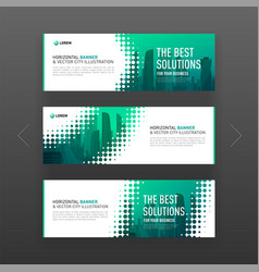 Abstract corporate horizontal web banner template vector