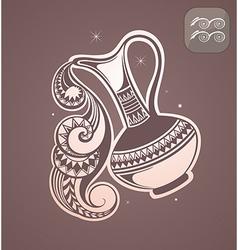 Aquarius zodiac sign vector image