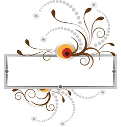 Banner with the curves and beads vector image
