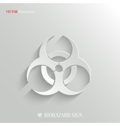 Biohazard icon - white app button vector
