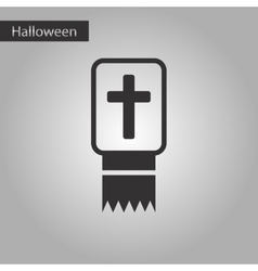 Black and white style icon Bible book vector