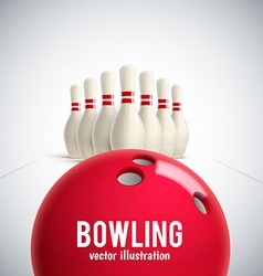 Bowling realistic theme eps 10 vector