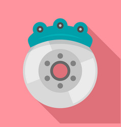 Car brake disc icon flat style vector