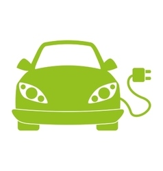 Car with electric plug vector