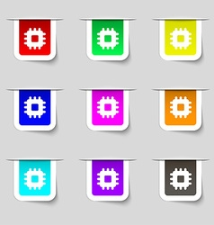 Central processing unit icon sign set of vector